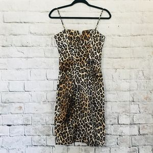 Cache Leopard Print Cocktail Dress - sz 4